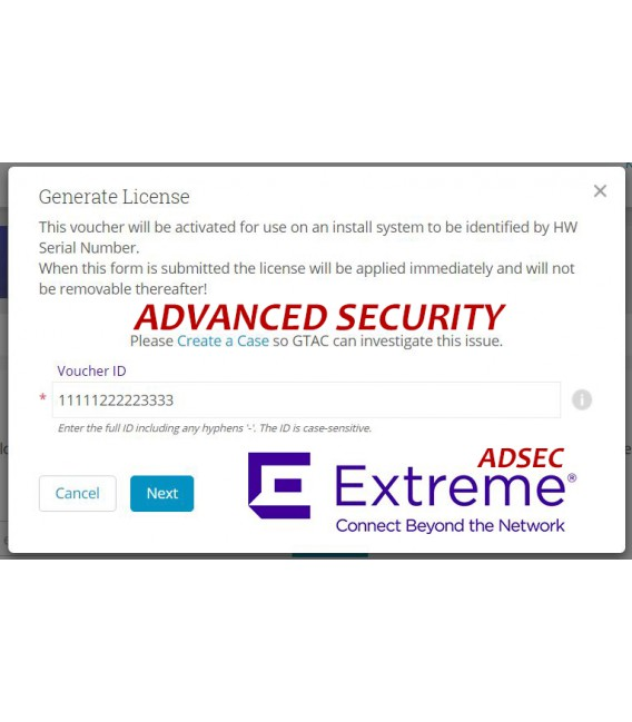 Licencia ADVANCED SECURITY  NX-9000