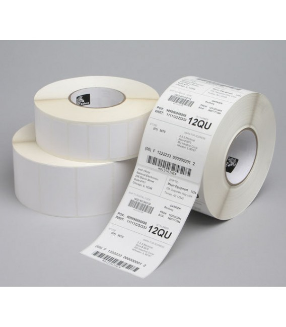 Z-Perform 1000D Direct Thermal Paper Label - Permanent Adhesive - 102mm x 38mm